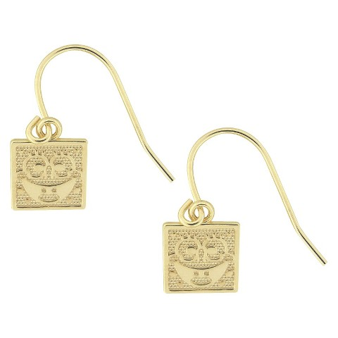 Kids Gold Over Sterling Silver Dangle Earrings - Gold