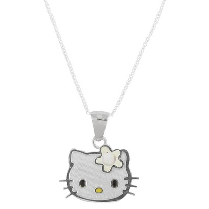 Hello Kitty Sterling Silver October Birthstone Pendant Necklace
