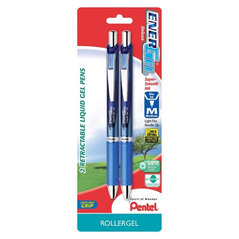 Pentel  Energel Deluxe 2ct Blue  Medium tip Gel Ink Pen
