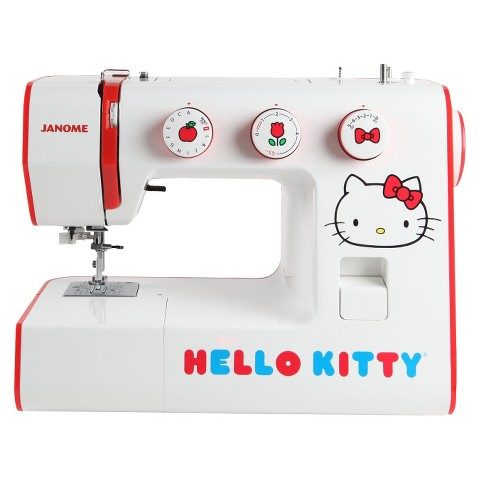Janome Hello Kitty Sewing Machine - White/Red (7.5'')