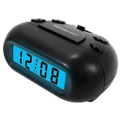 Black LCD Alarm Clock