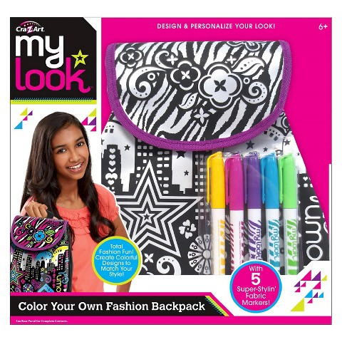 My Look Color Your Own Tote Bag by Cra-Z-Art