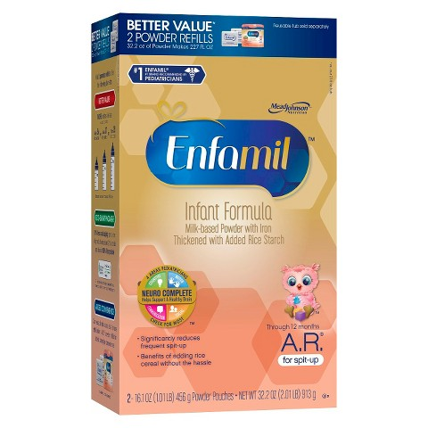 Enfamil A.R. Infant Formula Powder Refill Box - 32.2 oz. (4 Pack)