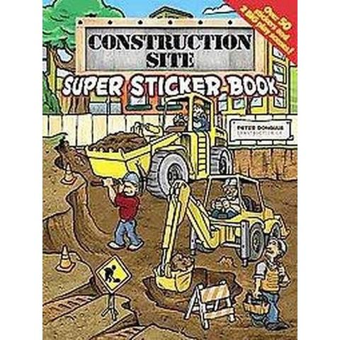 Construction Site Super Sticker Book (Paperback)