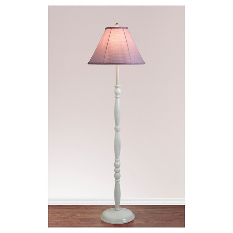 Elegant Floor Lamp - White/Pink (Includes CFL bulb)