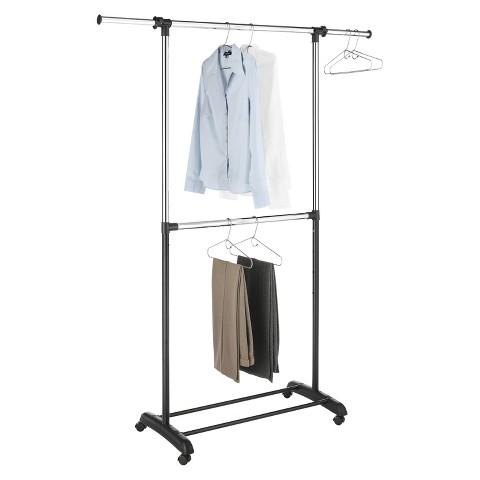 RE 2-Tiered Adjustable Height Garment Rack
