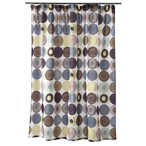 Dot Swirl Shower Curtain