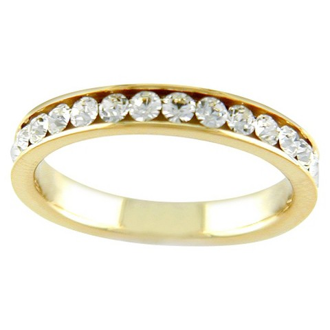 14K Gold Plated Multi Eternity Ring Gold