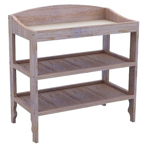 Lolly & Me Sawyer Changing Table - Driftwood Whitewash