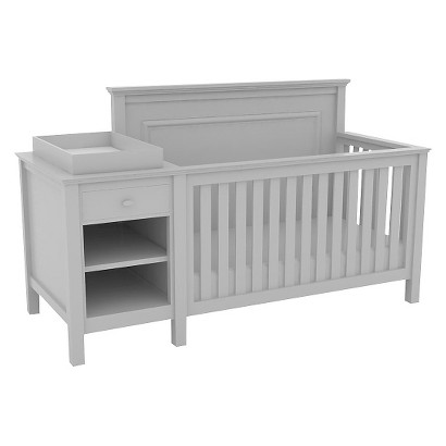 Lolly & Me Cogan 4-in-1 Crib Changer Combo  Creamy White