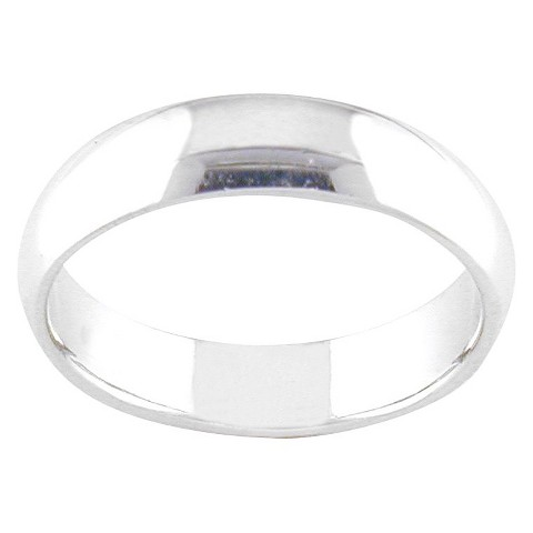Silver Plated 4.5-5mm Band Ring Silver