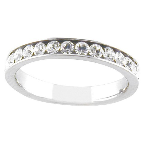 Silver Plated White Eternity Ring Silver