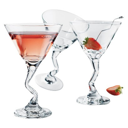 Libbey Z-Stem Martini Glasses Set of 4