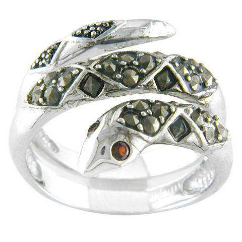 Silver Plated Crossover Band Ring Silver