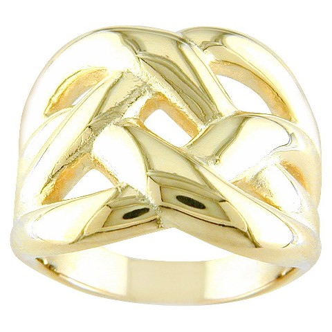 14k Gold Plated Knot Ring Gold