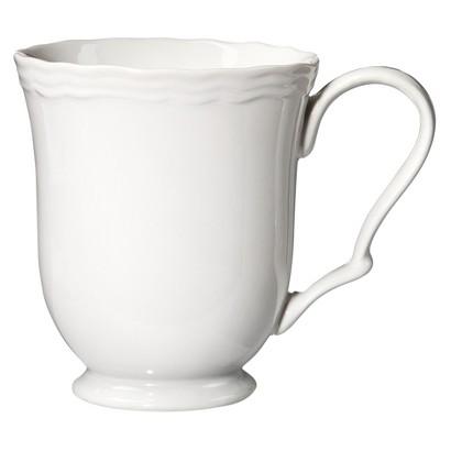 Threshold™ Scallop Porcelain Mug - White