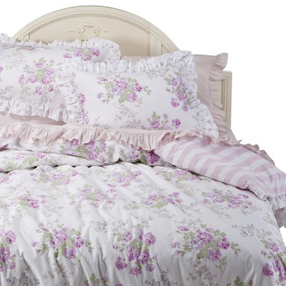 Simply Shabby Chic® Essez Floral Duvet Set - White/Pink