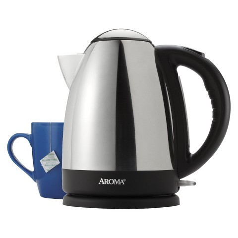Aroma Hot H20 X-Press 7-Cup Stainless Steel Electric Kettle