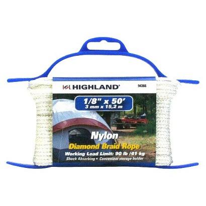 "Highland Diamond Braid Nylon Rope 1/8""x50'"