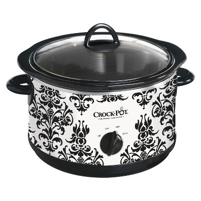 Crock-Pot® 4.5-Quart Manual Slow Cooker, Damask Pattern, SCR450-PT