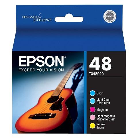 Epson 48 Color Ink Cartridges 5-pk.