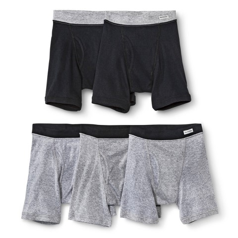 Boys' Fruit Of The Loom&#174 5-pack Boxer Briefs - Black and Gray