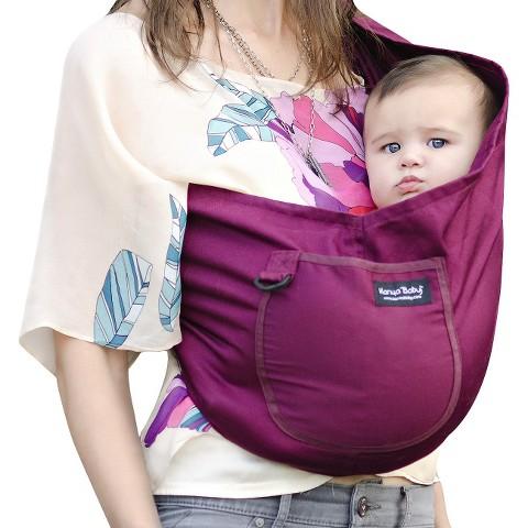 Karma Baby Organic Cotton Twill Sling Carrier - Plum