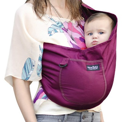 ECOM Karma Baby Organic Cotton Twill Sling Carrier - Plum - Small