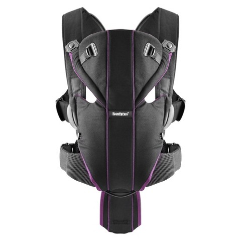 BABYBJÖRN Miracle Baby Carrier - Black/Purple