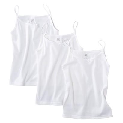 Fruit Of The Loom® Girls 3-pack Cami Tanks - White