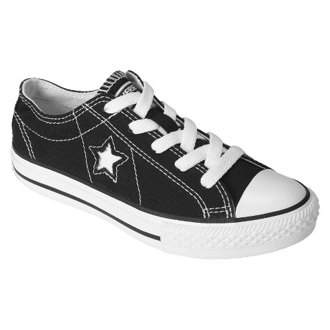 Kid's Converse® One Star® Canvas Oxford Shoe - Black