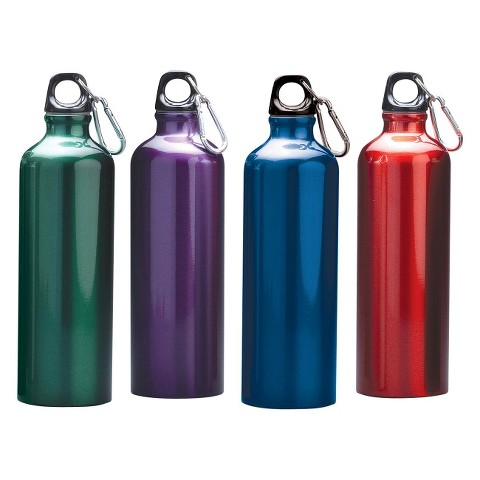 Stansport 4 pack Aluminum Sport Bottle - 4 Assorted Colors Per Package (26 oz.)