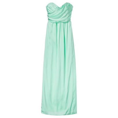 TEVOLIO™  Women's Satin Strapless Maxi Dress - Fashion Colors