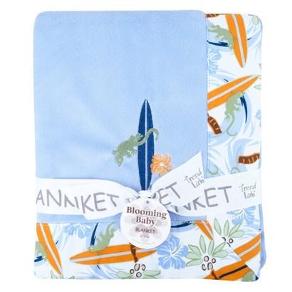 Trend Lab Blue Surfs Up Velour Blanket