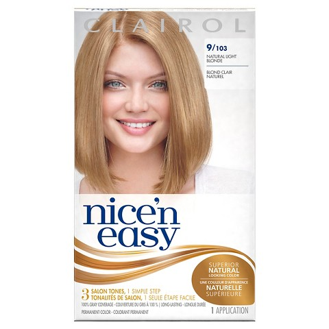 Clairol Nice 'n Easy Permanent Hair Color 9 103 Natural Light Neutral Blonde 1 Kit