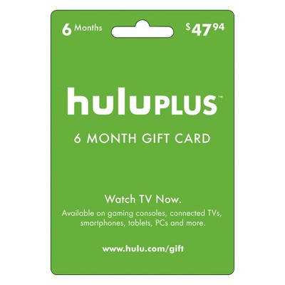 Hulu Plus 6-month Gift Card: Redeemable for 6 months of service