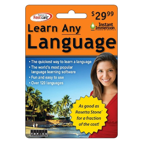 Topics Learn Any Language Card, $29.99