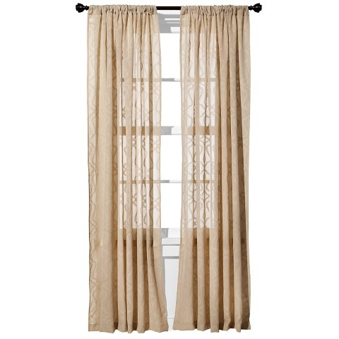 Threshold™ Clipped Sheer Curtain Panel