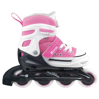 Chicago Rally Girl's JR Adjustable In Line Skate - Pink