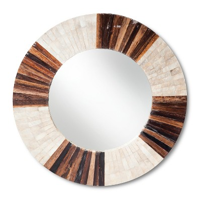 Round Wall Mirror - Natural