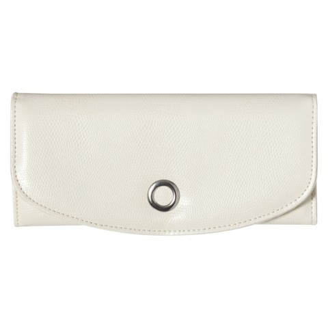Faux Leather Jewelry Case - Cream