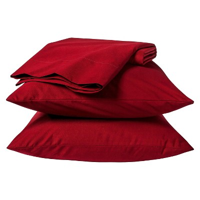 Easy Care Pillowcase Set Carment Red (Standard) - Room Essentials™