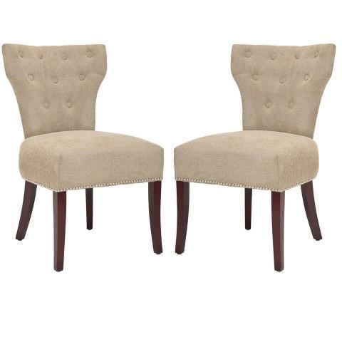 Broome Side Chair Wood/Sage (Set of 2) - Safavieh
