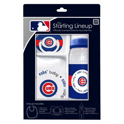 Chicago Cubs 3Pc Baby Gift Set - 3M+