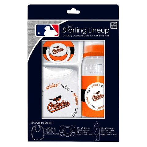 Baltimore Orioles 3Pc Baby Gift Set - 3M+