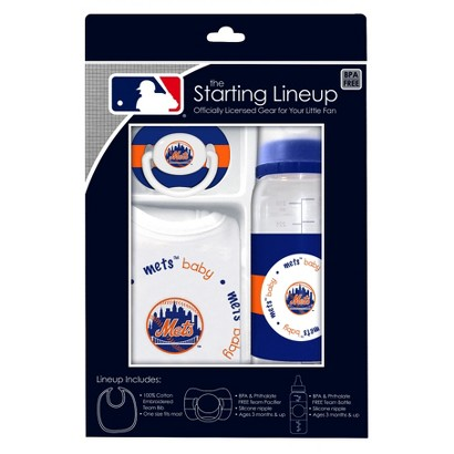 New York Mets 3Pc Baby Gift Set - 3M+
