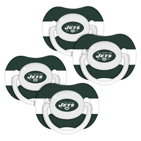 New York Jets4 Pk Baby Pacifier - 3M+