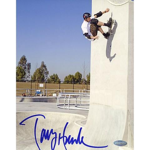"Tony Hawk Up The Wall Autographed Photo (8""x10"")"