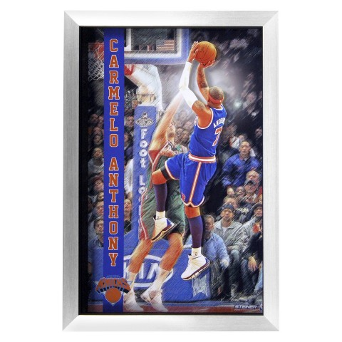 "Steiner Sports Carmelo Anthony New York Knicks 3D Pop Out Framed Collage (20""x32"")"