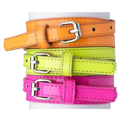 Xhilaration® Girls' 3-Pack Belt -  Abergine